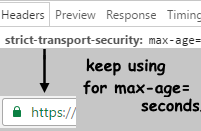 TLS Strict Transport Security HTTP header